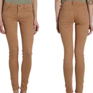 MOTHER Jeans - MOTHER the looker pop skinny creamy cafe jeans